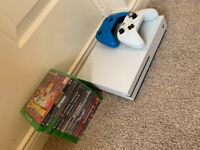 XBOX ONE S WITH 12 GAMES AND 2 CONTROLLERS