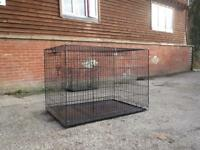Dog crate, excellent condition depth 78cm, width 122cm, height 81cm