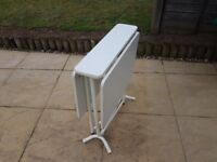 WHITE DROP LEAF TABLE FOR SALE