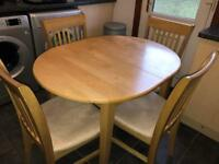 Banbury Solid Kitchen Dining Table 4 Chairs