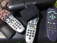 Sky HD box multi room box remotes