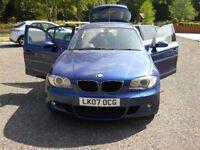 BMW 120TURBO DIESEL M SPORT AUTOMATIC 5 DOOR 2007 FOR SALE
