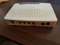 UNLOCKED Technicolor TG582n wireless Router adsl /Fiber router /NO power supply
