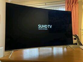 55in Curved Samsung SUHD 4K Quantum Dot Smart LED TV WI-FI Freeview HD & FreeSat HD V-CTRL Warranty