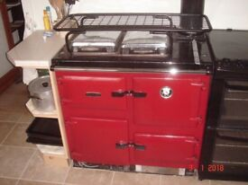 Rayburn – oil fired 45kW red, good condition