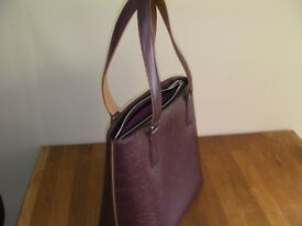 Genuine Louis Vuitton Burgundy Leather Handbag Houston