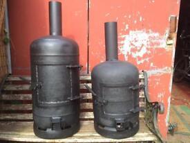 Recycled Gas Bottle Wood Burning Stove