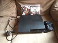PlayStation 3 Slim with 2 games