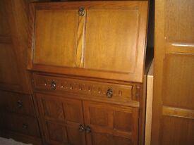 Real Oak Veneer writing bureau