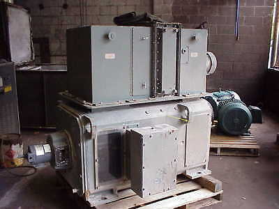 400 HP DC General Electric Motor, 1150 RPM, 4358 Frame, TEWC, 500 V Arm.