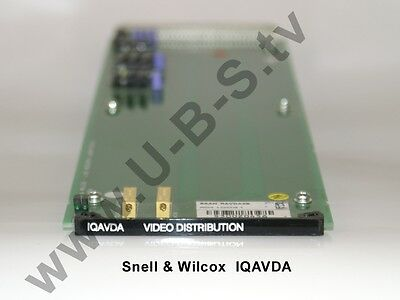 Snell & Wilcox IQAVDA - Analogue Video Distribution Amplifire Video Distribution Amplifier