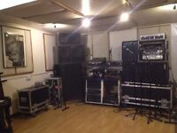 Music Studio Space for Bands, Producers, Recording, Rehearsal, Teaching, Writing