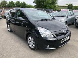 TOYOTA COROLLA VERSO SR 1.8 VVT-I 7 SEATER 2007 CRUISE CONTROL /FSH /9 MONTHS MOT /HPI CLEAR