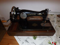 Singer sewing machine with case