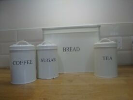 Bread Bin, Tea, Coffee and Sugar Cannister