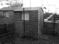 "Timber garden shed, 6'0"" x 3'6"""