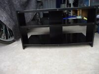TV table stand unit with shelves