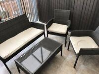 Homebase Mali Rattan Conservatory/Garden furniture set.