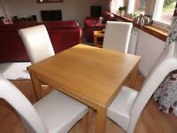 Ikea Extending Table and 4 Chairs