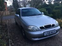 Daewoo 1 owner from new. Low mileage. Long MOT
