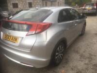 2013 63 Honda civic 1.6 es d-tec .(DIESEL FREE ROAD TAX)