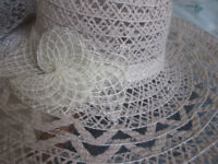 2 x LADIES PRETTY LACE-EFFECT FORMAL/SUMMER HATS - £5 EACH