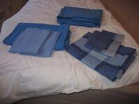 SINGLE DUVET & BLUE BEDDING