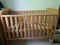 Drop side cot. open to offers