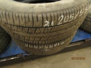 205/55R16 PAIR OF 2 USED MATCHING A/S TIRES