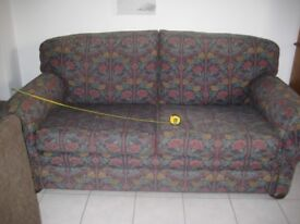 3 piece Sofa suite with 2 arm chairs and foot stool Handmade by Nettlefold