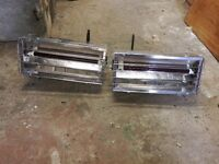 Two stainless heaters