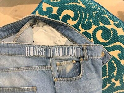 HOUSE OF HOLLAND JEANS-SIZE 14-NEW WITH OUT TAGS-BEAUTIFUL COLOURFUL DESIGN
