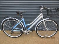 "LADIES FALCON LIGHTWEIGHT ALUMINIUM TOWN BIKE IN EXCELLENT CONDITION.. (18"" / 46cm. ALLOY FRAME).."