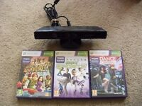 Kinect for Xbox 360 + 3 Games