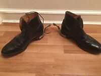 Original Royal Artillery all Leather boots with spurs