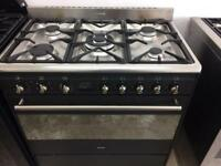 Stainless still smag 90cm gas cooker grill & oven good condition with guarantee