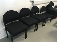 Free 8 x Black Office Chairs - Collection Only