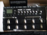 line 6 Pod x 3 live Guitar padel board