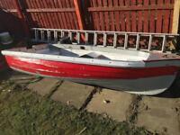 8ft fibreglass dinghy boat punt tender £50