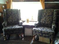 2 High Back Chairs