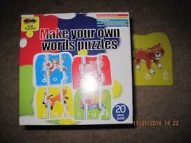 EDUCATIONAL GAME - Make your own words - from age 3+ IMMACULATE Condition