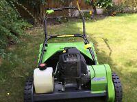 B&Q Performance 16in Petrol cylinder lawnmower.
