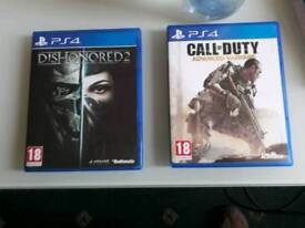 PS4 Games Dishinored 2 & Call of Duty Advanced Warefare