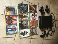 XBox 360, 3 Controllers & 11 Games