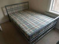 Metal frame King Size bed with mattress