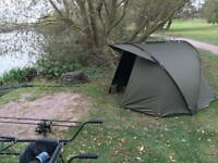 Trakker Cayman pro one man bivvy with winter overwrap