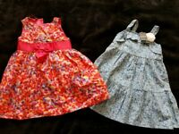 Pair of lovely summer dresses 3-4 ONE BNWT