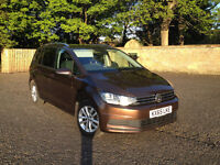 7 Seat High Spec 2016 Petrol VW Touran with FIVE REAR ISOFIX SEATS!