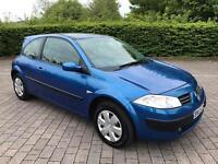 2005 55 Renault Megane 1.4 16v Oasis 3dr 53,000 Miles From New, 12 MONTHS MOT