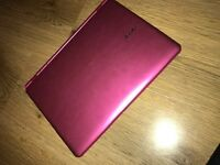 Touch Screen Pink Acer laptop.